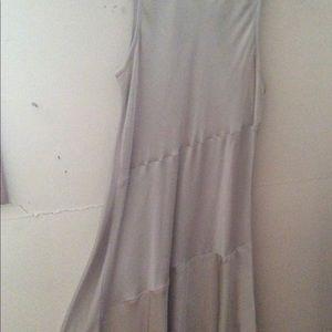 Two-tone soft grey slightly flared mini dress